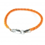 Kordelarmband orange
